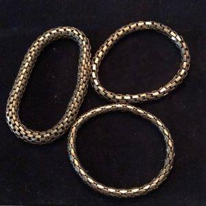 Jewelry - Set of Three Gold Bracelets